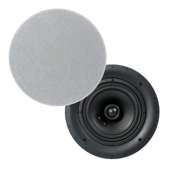 "QLC6.5 In-Ceiling 6.5 "" Magnetic Grills Speaker Pair"